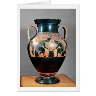 Preto-figura amphora que descreve Ajax e Achilles, Cartão Comemorativo