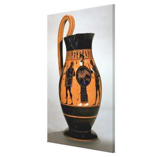 Preto-figura olpe do sótão que descreve Athena Con Impressão Em Canvas