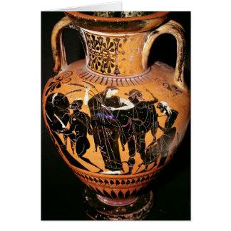 Preto-figura vaso do sótão cartão comemorativo