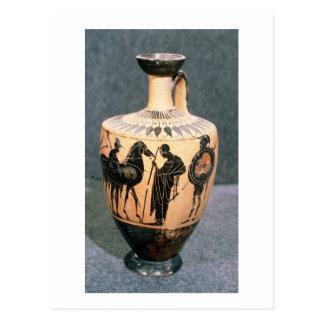 Preto-figura vaso do sótão, século V BC Cartão Postal