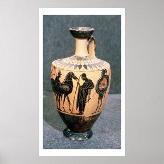 Preto-figura vaso do sótão, século V BC Pôsteres