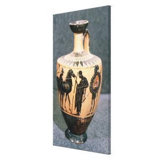 Preto-figura vaso do sótão, século V BC Impressão De Canvas Envolvida