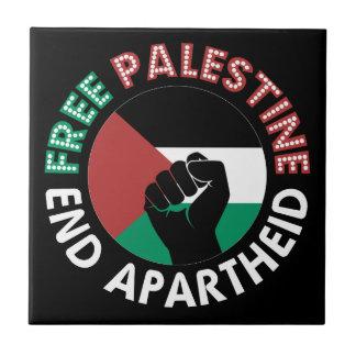 Preto livre do punho da bandeira do Apartheid do Azulejo Quadrado Pequeno