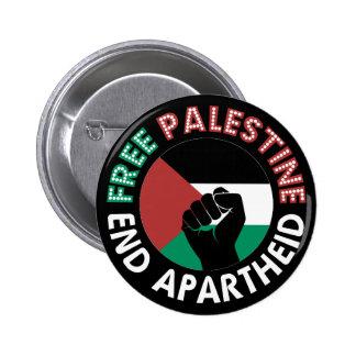 Preto livre do punho da bandeira do Apartheid do Bóton Redondo 5.08cm