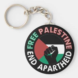 Preto livre do punho da bandeira do Apartheid do Chaveiro
