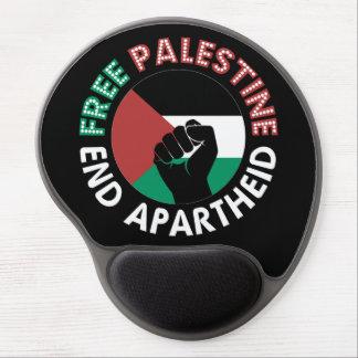 Preto livre do punho da bandeira do Apartheid do Mouse Pad Em Gel