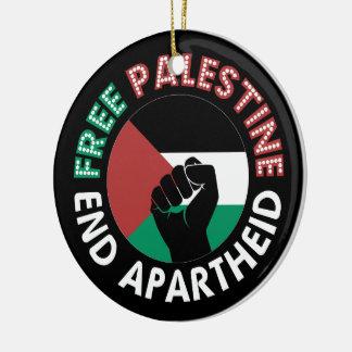 Preto livre do punho da bandeira do Apartheid do Ornamento De Cerâmica Redondo