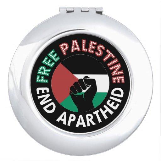 Preto livre do punho da bandeira do Apartheid do Espelho De Maquiagem