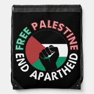 Preto livre do punho da bandeira do Apartheid do Mochilas