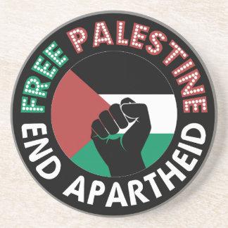 Preto livre do punho da bandeira do Apartheid do Porta Copos De Arenito
