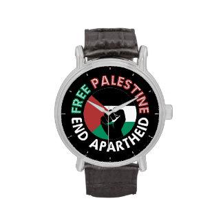 Preto livre do punho da bandeira do Apartheid do Relógios De Pulso