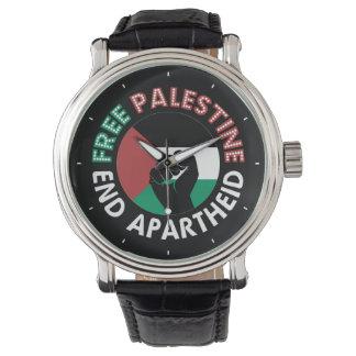 Preto livre do punho da bandeira do Apartheid do Relogios