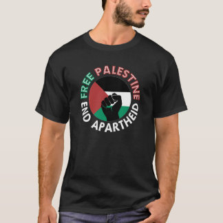 Preto livre do punho da bandeira do Apartheid do T-shirt