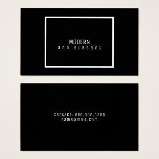 preto minimalista moderno e elegante cartão de visitas