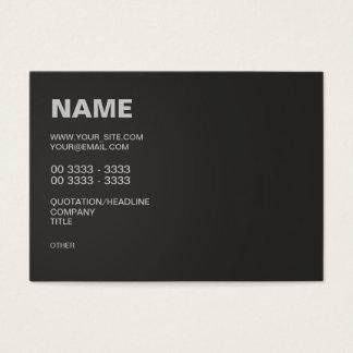 Preto moderno cartão de visita grande