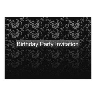 Preto moderno do convite de aniversário