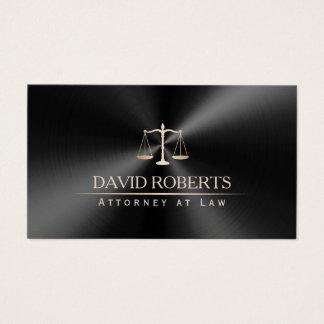 Preto moderno & ouro do advogado do advogado cartão de visitas