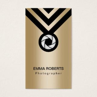 Preto moderno & ouro do fotógrafo cartão de visitas