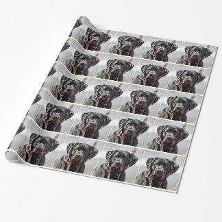 Preto preto labrador retriever do animal de papel para embrulho