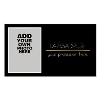 preto profissional da foto cartão de visita