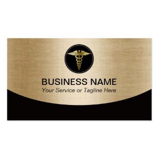 Preto profissional médico & ouro cartão de visita