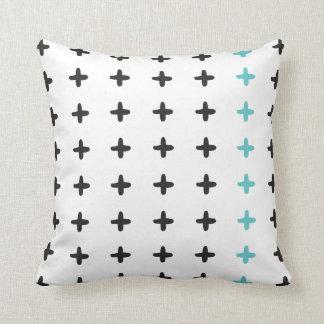 Preto reversível + Aqua transversal branco Travesseiros