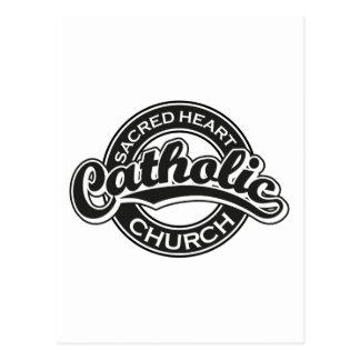 Preto sagrado da igreja Católica do coração Cartoes Postais