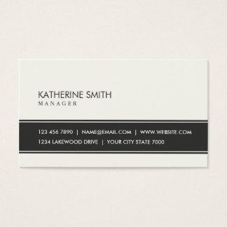 Preto simples liso elegante profissional e bege cartão de visitas