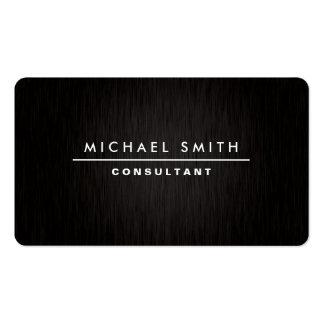 Preto simples liso moderno elegante profissional cartão de visita
