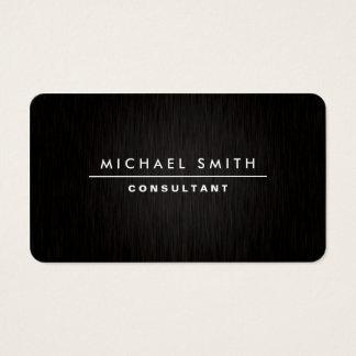 Preto simples liso moderno elegante profissional cartão de visitas