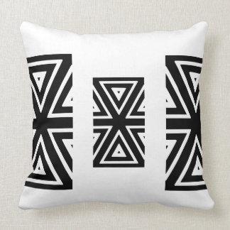Preto, travesseiro étnico branco almofada