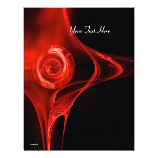 Preto vermelho brilhante do ROSA do FRACTAL Modelos De Panfleto