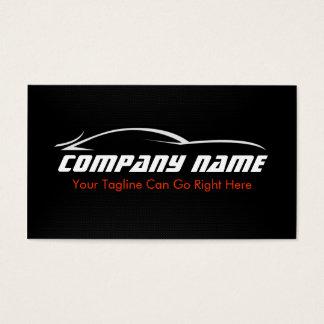 Preto, vermelho, carro, automóvel, cartão de cartão de visita