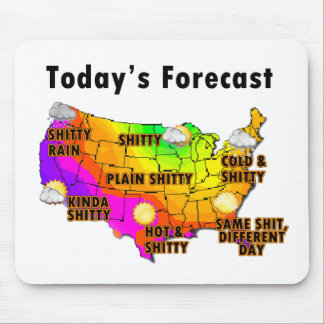 Previsão de tempo mouse pad