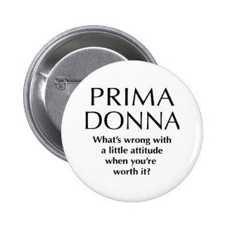 Prima orgulhoso Donna - o poder das mulheres engra Bóton Redondo 5.08cm
