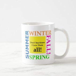 Primavera, verão, inverno, queda caneca