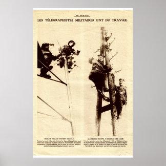 Primeira guerra mundial, commuications militares impressão