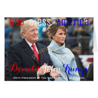 Primeira senhora Melania Trunfo EUA de POTUS Cartão Comemorativo