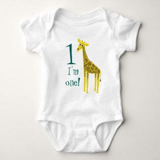 Primeiro aniversario bonito do girafa tshirts