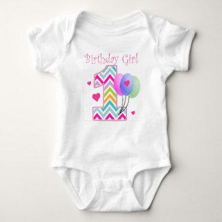 Primeiro aniversario do bebê do aniversário de tshirt