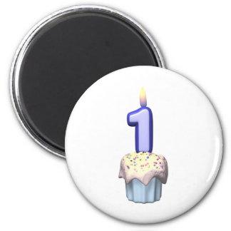 Primeiro aniversario ímã redondo 5.08cm