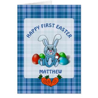 Primeiro cartão feliz personalizado do bebé da