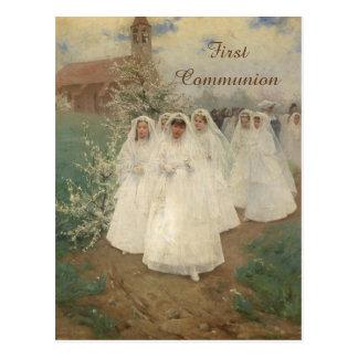 Primeiro comunhão cartão postal