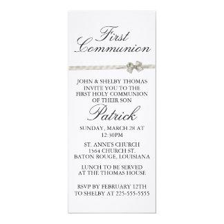 """Primeiro comunhão convite 10.16"""" x 23.49cm"""