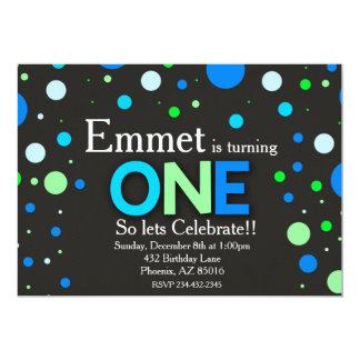 Primeiro convite do aniversário, primeiro