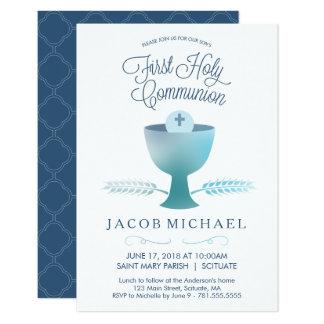 Primeiro convite do comunhão santamente - o menino