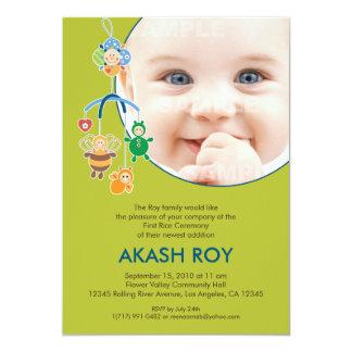 Primeiro convite do móbil do bebê da cerimónia do