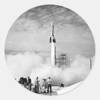 Primeiro lançamento de Rocket, Cabo Canaveral, Adesivo