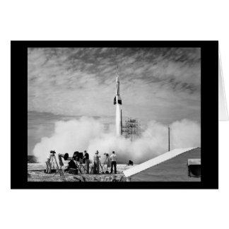 """Primeiro lançamento de Rocket, Cabo Canaveral, """"pá Cartão Comemorativo"""