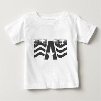 Primeiro nome de letra - uma paisagem da cidade tshirts